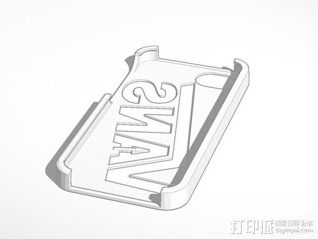 Vans万斯iPhone5手机外壳 3D模型  图2