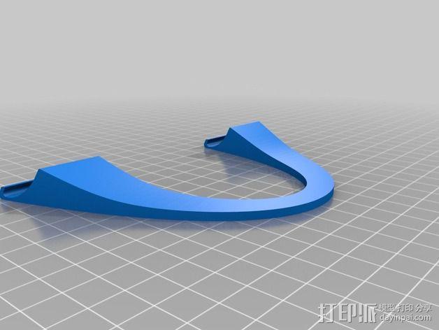 拱形ipad平板电脑支撑架 3D模型  图2