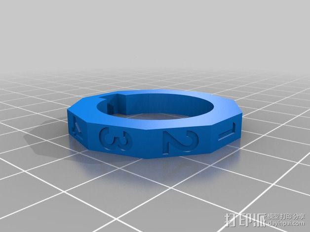 USB密码筒 密码轴 3D模型  图4