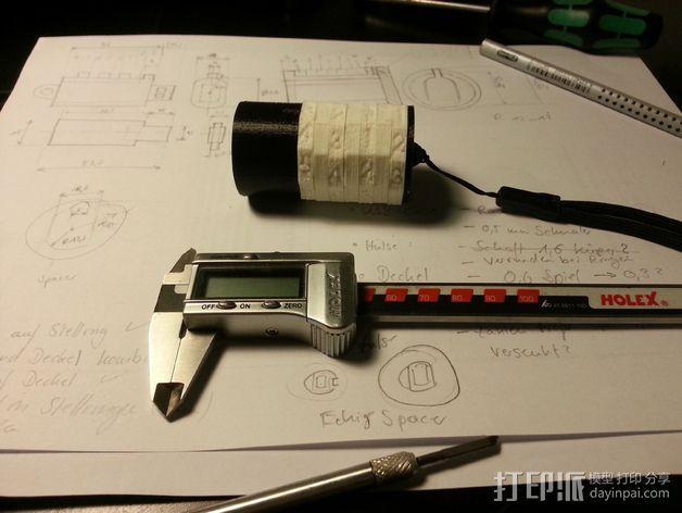 USB密码筒 密码轴 3D模型  图2