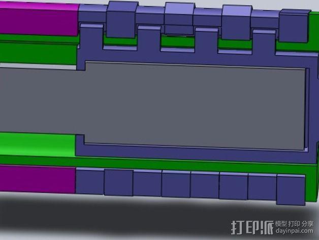 USB密码筒 密码轴 3D模型  图3