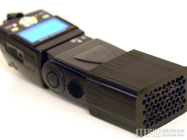尼康相机闪光镜保护罩 3D模型  图1