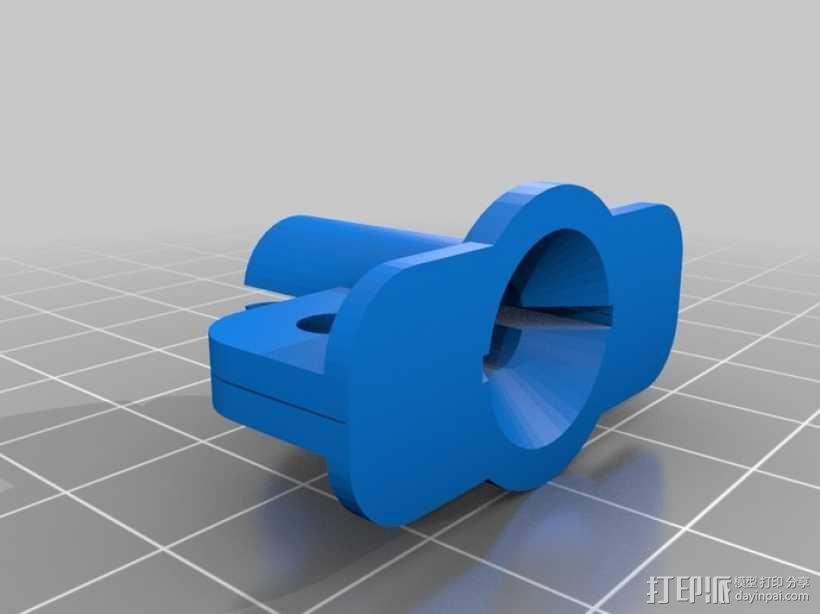 苹果电脑充电适配器电缆保护壳 3D模型  图2