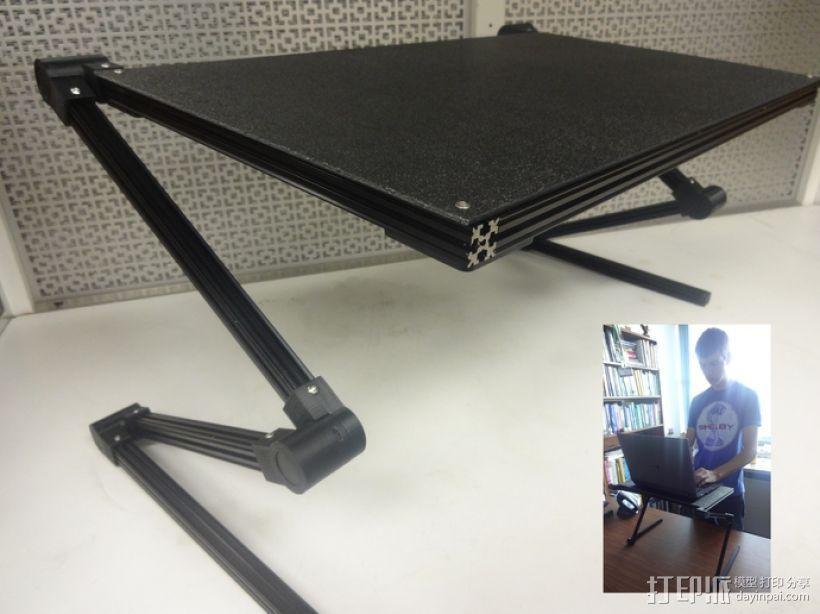 可调整平板电脑支撑架 3D模型  图1