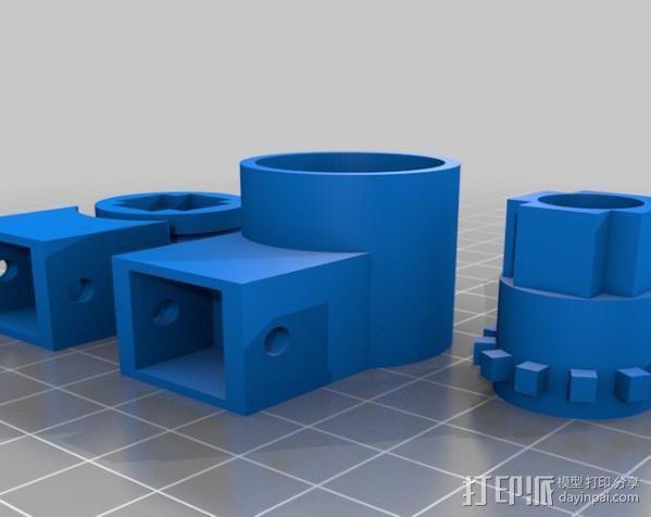 可调整平板电脑支撑架 3D模型  图3