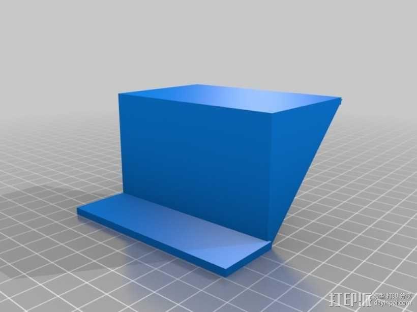 1U rack机箱架 3D模型  图2