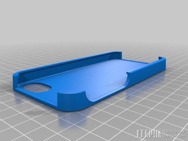 Iphone 5S 手机外壳 3D模型  图2