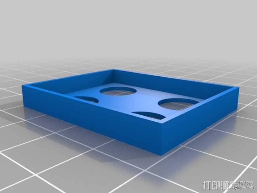GoPro Hero 3相机电池盖 3D模型  图3
