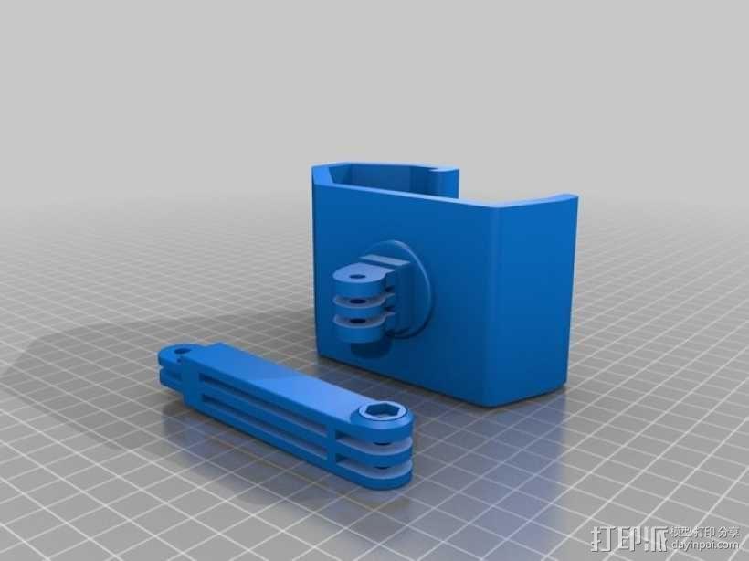 Makerbot 5th Gen Gopro后支撑座 3D模型  图2