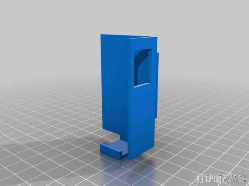 车载式HTC One手机支架 3D模型  图4