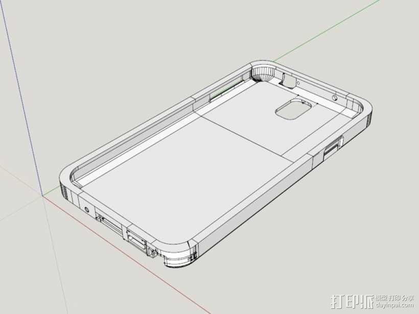 三星Galaxy Note 3手机外壳 3D模型  图1