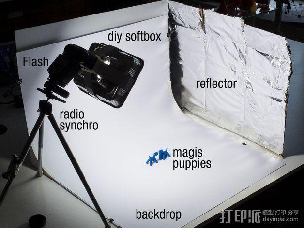 摄像机挡板底座 3D模型  图2