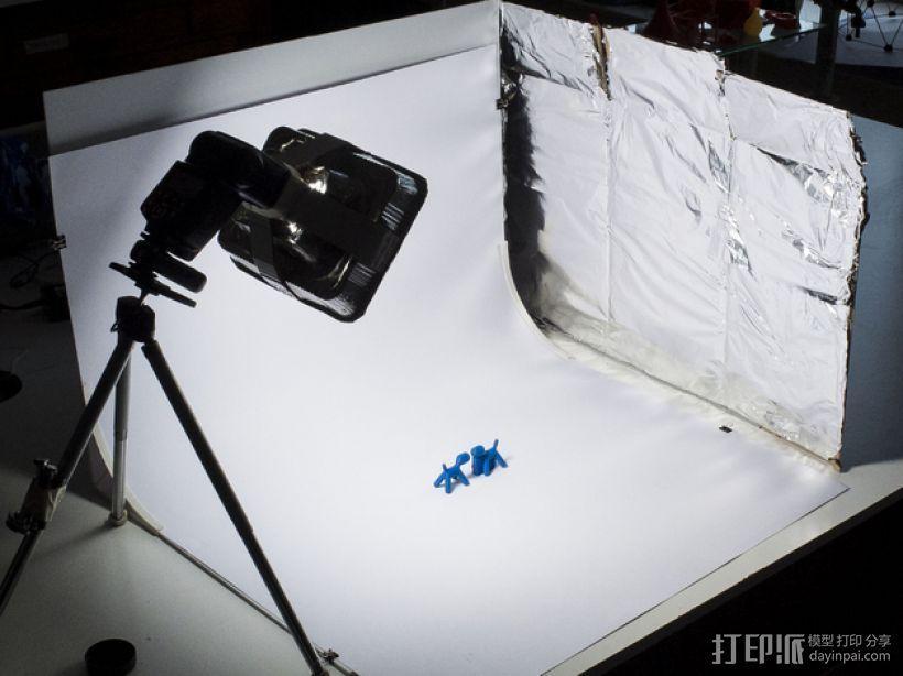 摄像机挡板底座 3D模型  图1