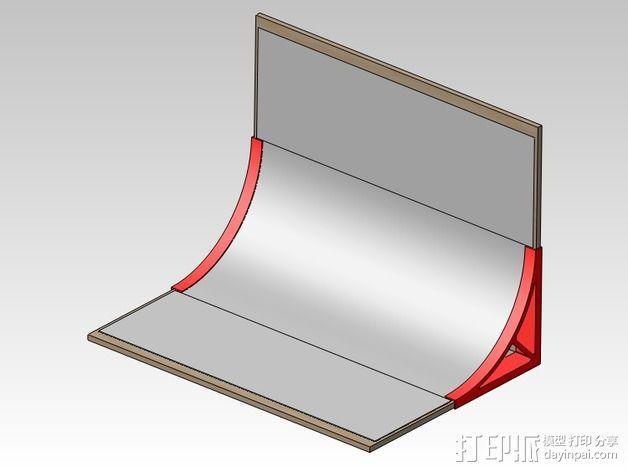 摄像机挡板底座 3D模型  图4
