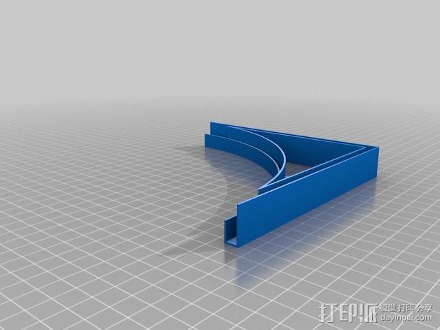摄像机挡板底座 3D模型  图6