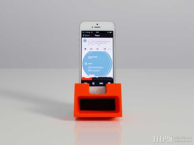 iPhone 5手机扩音器 3D模型  图2
