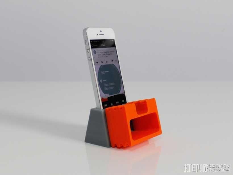 iPhone 5手机扩音器 3D模型  图1