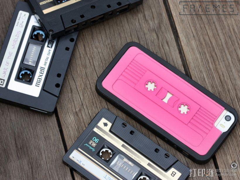 磁带式 iPhone 5/5S/5C 手机外壳 3D模型  图1