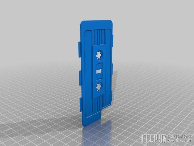 磁带式 iPhone 5/5S/5C 手机外壳 3D模型  图2