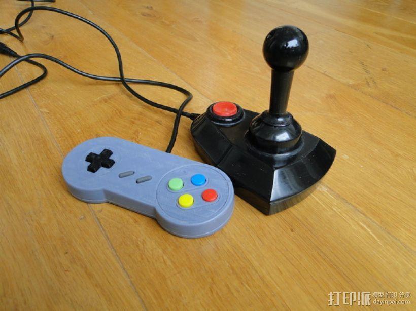 SNES游戏机手柄 3D模型  图1