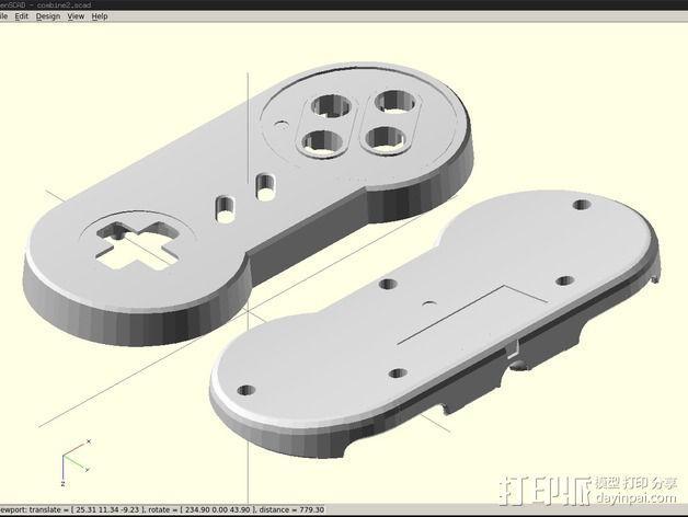 SNES游戏机手柄 3D模型  图4