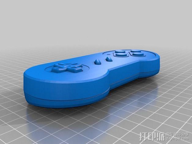 SNES游戏机手柄 3D模型  图9