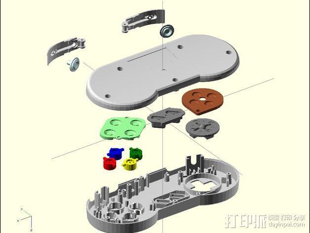 SNES游戏机手柄 3D模型  图7