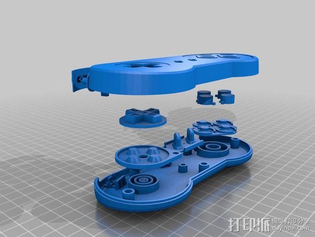 SNES游戏机手柄 3D模型  图8