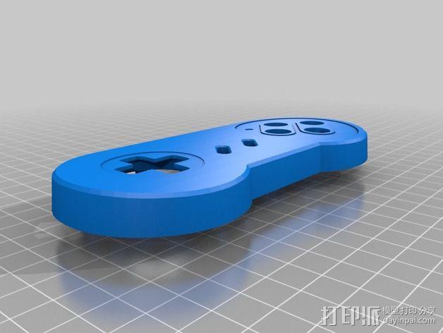 SNES游戏机手柄 3D模型  图10