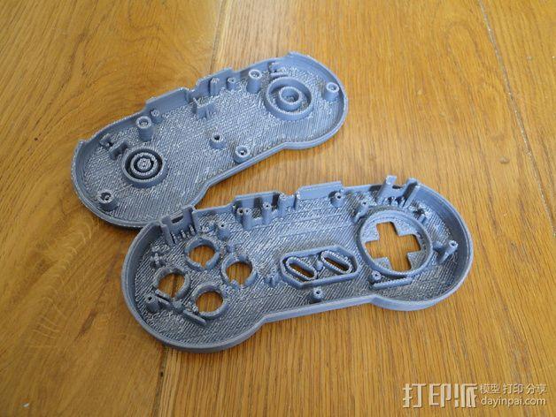 SNES游戏机手柄 3D模型  图24