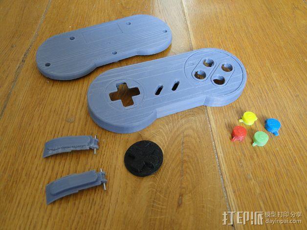 SNES游戏机手柄 3D模型  图25