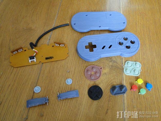SNES游戏机手柄 3D模型  图26