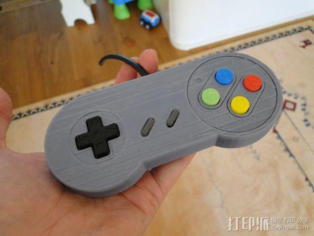 SNES游戏机手柄 3D模型  图28