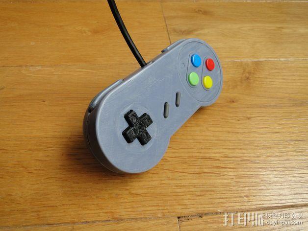 SNES游戏机手柄 3D模型  图31