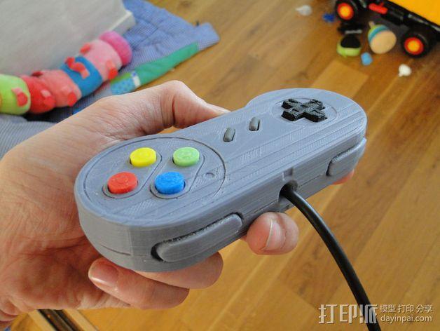 SNES游戏机手柄 3D模型  图29