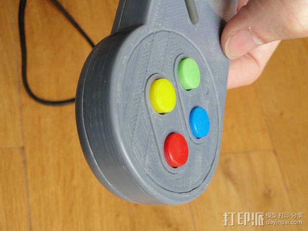 SNES游戏机手柄 3D模型  图32