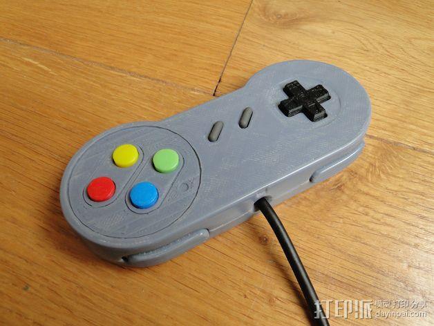 SNES游戏机手柄 3D模型  图33