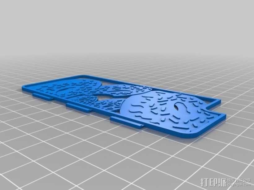 甜甜圈iPhone 5/5S 手机套 3D模型  图2