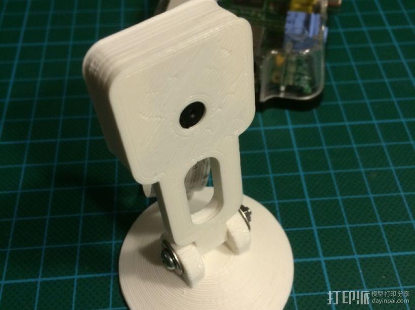 树莓派相机支撑架 3D模型  图1