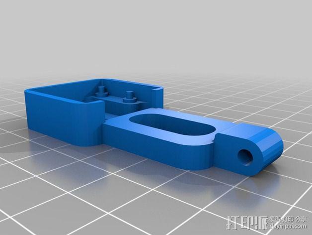 树莓派相机支撑架 3D模型  图2