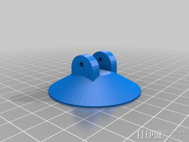 树莓派相机支撑架 3D模型  图3