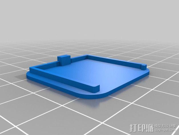 树莓派相机支撑架 3D模型  图4