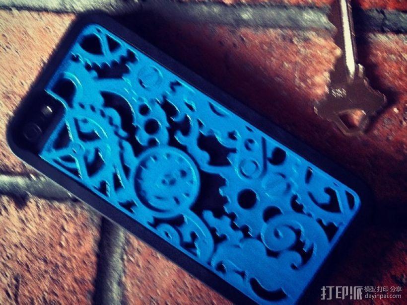 蒸汽朋克风格iPhone 5/5S 手机外壳 3D模型  图1