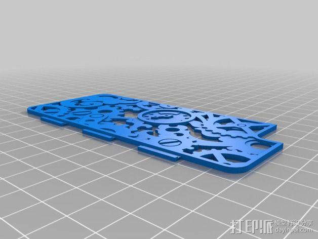蒸汽朋克风格iPhone 5/5S 手机外壳 3D模型  图2