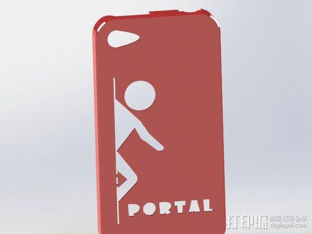 传送门元素iPhone4s手机套 3D模型  图3