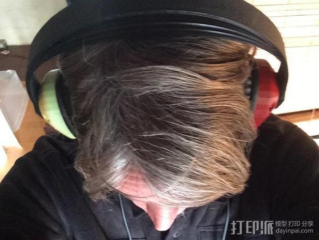 立体音头戴式耳机 3D模型  图2