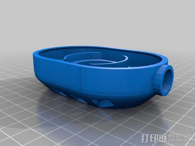 立体音头戴式耳机 3D模型  图4