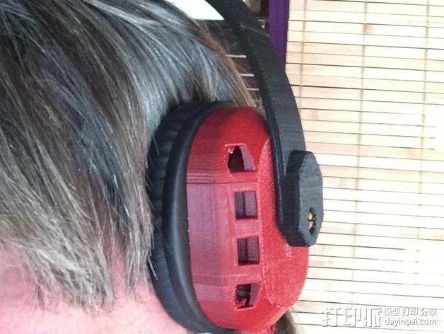 立体音头戴式耳机 3D模型  图3