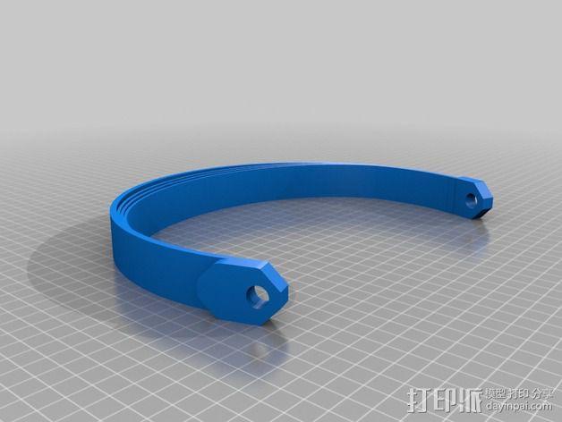 立体音头戴式耳机 3D模型  图6