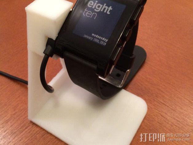 Pebble手表充电座 3D模型  图2